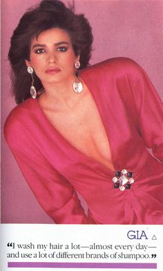 1983 ad with Gia. Eek those shoulder pads!