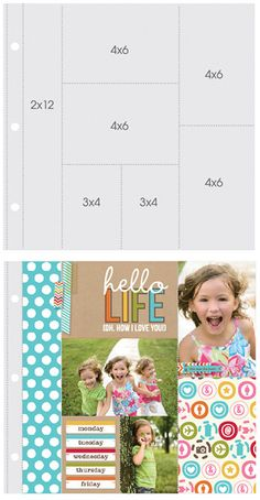 Simple Stories - SNAP Studio Collection - 12 x 12 Page Protectors - Two 4 x 6 Two 6 x 4 Two 3 x 4 One 2 x 12 Inch Photo Sleeves - 10 Pack at Scrapbook.com
