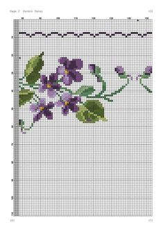 Cross Stitching, Embroidery Stitches, Le Point, Charts, Bath Linens, Cross Stitch Embroidery, Violets, Table Runners, Table Toppers