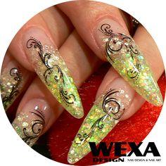 glitter uv gel Uv Gel, Hand Henna, Hand Tattoos, Class Ring, Glitter, Nails, Jewelry, Finger Nails, Jewlery
