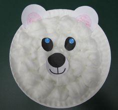 Polar Bear Paper Plate Craft ~a Lakeshore freebie & Paper Plate Polar Bear Craft | Bear crafts Polar bear and Bears