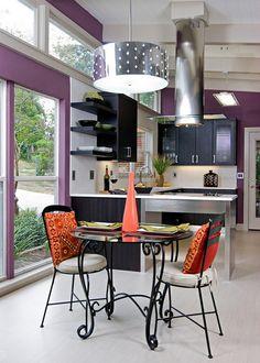 Kitchen Design within Purple Shades