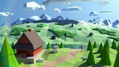 low poly landscape - Google-Suche