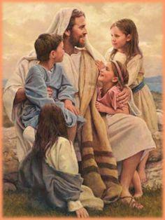 artist Hook and his Jesus pictures   Imágenes de Jesús y los niños