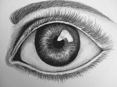 Realistisch: het oog is heel realistisch getekent, het lijkt net echt
