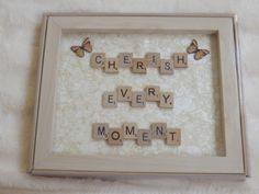 Frame Scrabble Scrabble Letters Scrabble Tiles by TTsTreasureTrove - Before After DIY Scrabble Letter Crafts, Scrabble Tile Crafts, Scrabble Board, Scrabble Letters, Scrabble Ornaments, Box Frame Art, Box Frames, Box Art, Frame Crafts