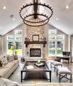 love the fireplace on this outside wall. maybe doors on each side instead windows.