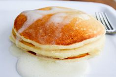 Meyer Lemon Greek Yogurt Pancakes by ohsweetbasil: Our new obsession. #Pancakes #Meyer_Lemon #Greel_Yogurt