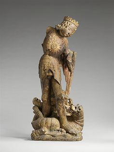 Saint Michael ca 1475,made in Touraine,France Lmestone,traces of paint and gilding.