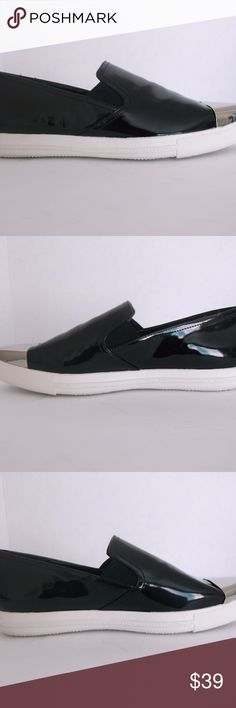 BCBGeneration black with silver tip shoes sz 8.5 BCBGeneration black with silver tip shoes sz 8.5 New with box has been tried on BCBGeneration Shoes Sneakers