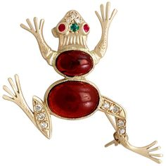For Sale on - A fine and impressive carat diamond. carat garnet, carat ruby and emerald, and 14 karat yellow gold 'frog' brooch; part of our diverse vintage Antique Brooches, Pearl Brooch, Garnet, Jewelry Collection, Diamond Cuts, Emerald, Vintage Jewelry, Gemstones, Antiques