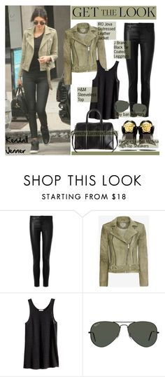 """Get the Look: Kendall Jenner"" by helenevlacho ❤ liked on Polyvore featuring J Brand, IRO, Versace, H&M, Givenchy and Ray-Ban"
