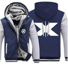 Wolverine zip hoodie fleece for winter XXXL X-men hooded sweatshirts