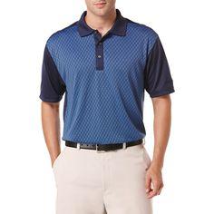Ben Hogan Performance Argyle Jacquard Short Sleeve Polo Shirt