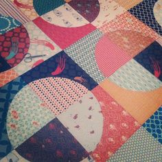 mjandco   All basted. Clipping threads & planning the quilting. :) | Flickr - Photo Sharing!