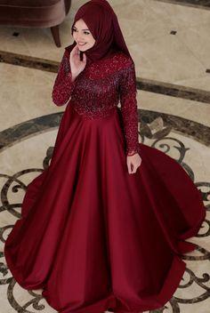 Is not like the swan ♥ ️ Mira Formal Wear 4 colors to choose from www. Muslim Wedding Gown, Muslimah Wedding Dress, Muslim Dress, Bridal Hijab, Pakistani Bridal Dresses, Bridal Gowns, Stylish Dress Designs, Stylish Dresses, Modest Dresses
