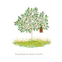 Faire-part de naissancePrintemps by Tomoë pour FairepartNaissance.fr #rosemood #atelierrosemood #birth #announcement #arbre #tree
