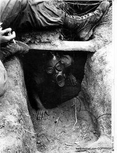 Tunnel Rat W Gas Mask 173rd Airborne Vietnam Ve