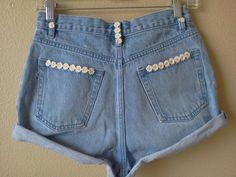 High Wasted Daisy Shorts by nineteenlives on Etsy