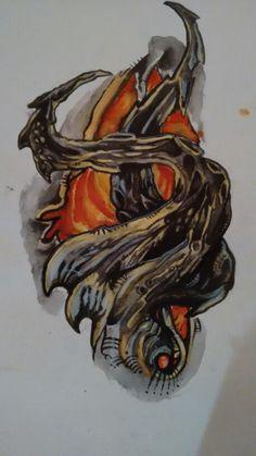 Acquarelli tattoo organico by one