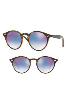 83d58d39a2262 Ray-Ban Highstreet 49mm Round Sunglasses