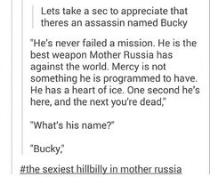 Let's take a second to appreciate that there's an assassin named Bucky. Repined for insta-death XD