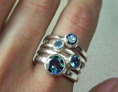 Ring?  Blue Topaz RingsBIG Blue Topaz Jewelry  by FantaSeaJewelry on Etsy, $199.00