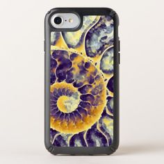 Purple Cream nautilus Art Speck iPhone Case