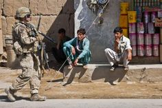 Afghan men are still baffled when they see female Soldiers.
