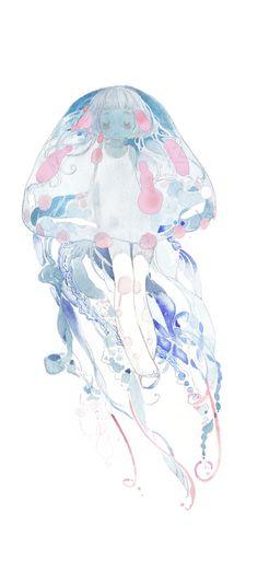 「natsu jellyfish」/「h2so4kancel」[pixiv]