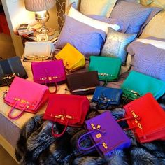 da677ae1c3 a pile of Hermes bags of my bed ... I Wish! Birkin Bags