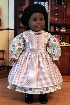 Civil War Dress and Apron for 18 inch Dolls like Addy, Marie Grace or Cecile