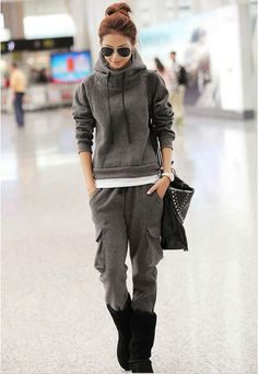 Korean Fashion Stylish Female Thicken Tracksuit - BuyTrends.com
