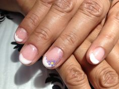 Gelish French Manicure with complimentary nail art