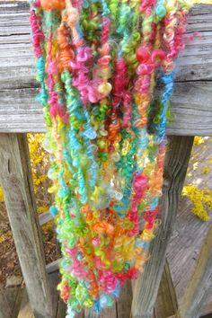 Handspun Yarn Art Yarn Lockspun Wensleydale by RainbowTwistShop