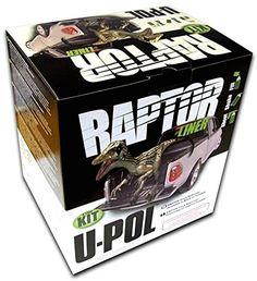 U-Pol Products 0820 RAPTOR Black Truck Bed Liner Kit – 4 Liter