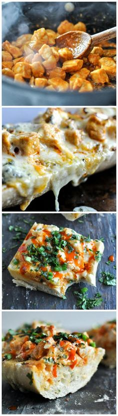 Buffalo Chicken French Breads