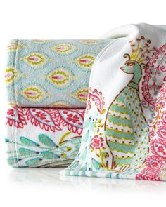 Peacock Towels by Dena Home at Horchow.