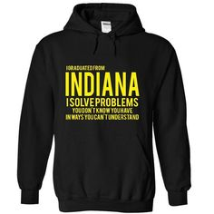 I Graduated From INDIANA. I sovle Problem - #team shirt #tshirt bemalen. ORDER HERE => https://www.sunfrog.com/Funny/I-Graduated-From-INDIANA-I-sovle-Problem-7413-Black-aw3a-Hoodie.html?60505