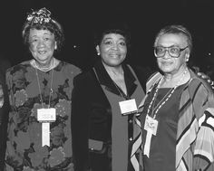 Dr. Betty Shabazz (c) flanked by two Delta Past National Presidents - Dr. Dorothy Height, #10 and Attorney Frankie M. Freeman, #14 . . .