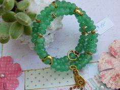 Bracelet wire wrapped Healing stones - Aventurine