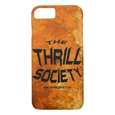 The Thrill Society Logo Squeezed Design iPhone 8/7 Case Custom Brandable Electronics Gifts for your buniness #electronics #logo #brand