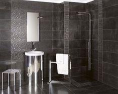 carrelage salle de bain en grès cérame émaillé gris