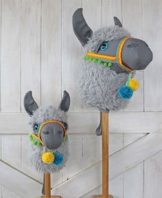 Llama Ride-On Toy Stick Horse Hobby Horse - Sewing Patterns at Makerist
