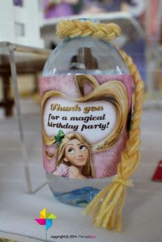 Fun favors at a Rapunzel Tangled birthday party! See more party planning ideas at CatchMyParty.com!