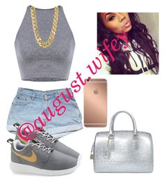 """""""P-E-R-F-E-C-T💗"""" by aaleeyahxpetty ❤ liked on Polyvore featuring Furla, NIKE, Mura and CC SKYE"""
