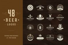 45 Beer Logotypes and Badges - Logos