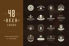 45 Beer Logotypes and Badges - Logos