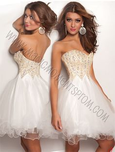 another cute dress!  Love the pattern of the beaded top! Jasz fall 2012 4722 $298 #graduation #batmitzvah #homecoming #dresses #fashion