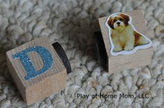 DIY Magnetic Match Blocks | Activities For Children | Do It Yourself, Letters/Numbers | Play At Home Mom